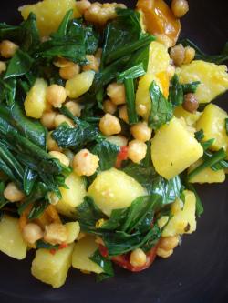 Kartoffel-Bärlauch-Pfanne