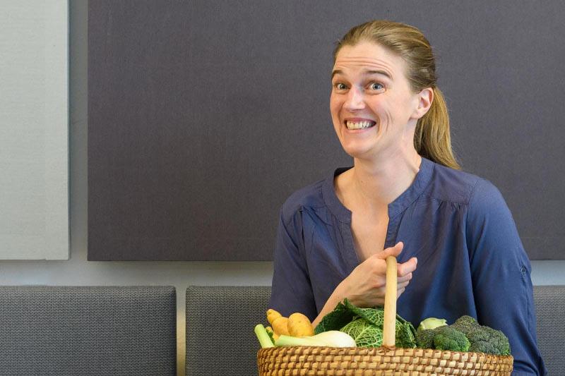 Rita mit Gemüse
