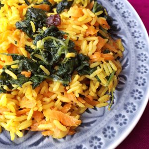 Spinat Karotten Reis