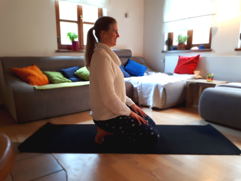 Fersensitz Toe Squat Yin Yoga