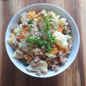 Buchweizen-Gemüse-Salat